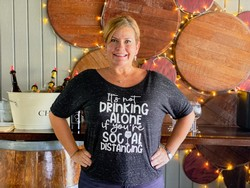 Not Drinking Alone Social Distancing T-Shirt